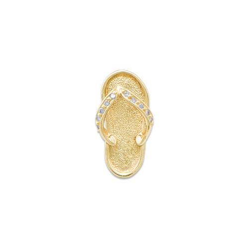 Slippers slipper pendant with diamonds in 14k yellow gold medium mozeypictures Image collections