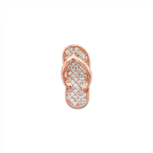 Slipper Pendant with Diamonds in 14K Rose Gold - Medium