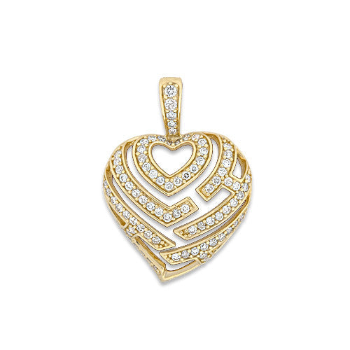 Pave aloha heart pendant with diamonds in 14k yellow gold 18mm aloha heart pendant with diamonds in 14k yellow gold 18mm mozeypictures Images