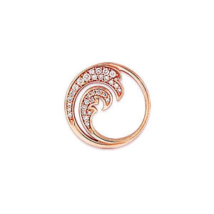 Nalu Pendant with Diamonds in 14K Rose Gold - 18mm