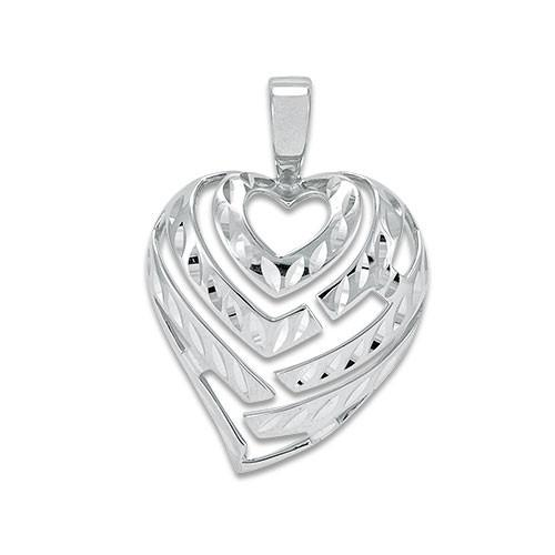 Aloha heart pendant in 14k white gold 9mm 30mm aloha heart pendant in 14k white gold 9mm 30mm 14k mozeypictures