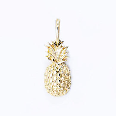 PINEAPPLE PENDANT IN 14K YELLOW GOLD - 15MM