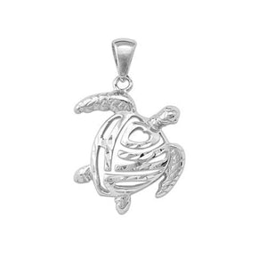 ALOHA HONU TURTLE PENDANT IN 14K GOLD - EXTRA EXTRA SMALL