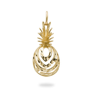 ALOHA PINEAPPLE PENDANT IN 14K YELLOW GOLD - EXTRA SMALL
