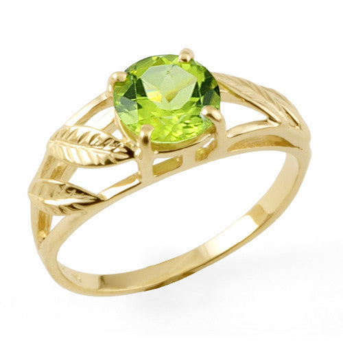 Peridot Ring in 14K Yellow Gold
