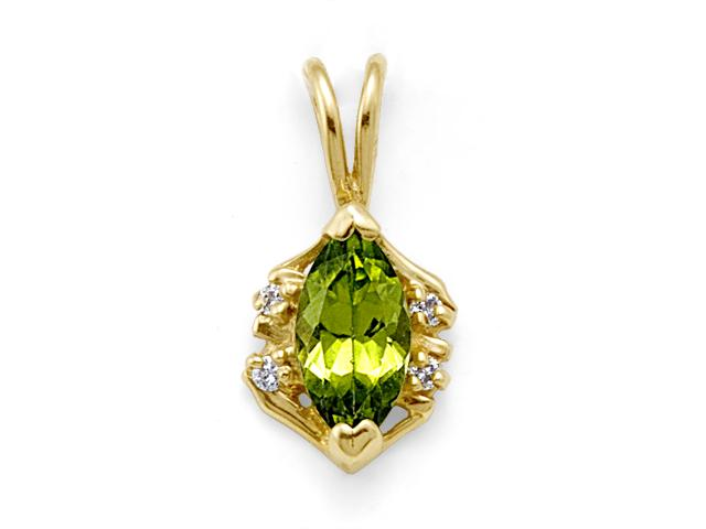 Peridot Pendant in 14K Yellow Gold