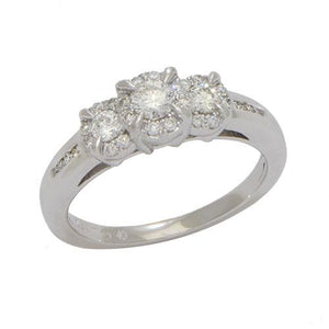 Wedding Diamond Ring in 14K Gold 028-08104