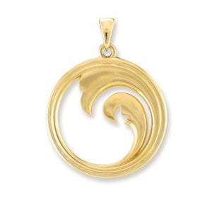 NALU DOUBLE WAVE WITH MOTHER OF PEARL IN 14K YELLOW GOLD