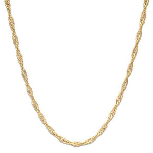 "20"" 1.5MM Singapore Chain in 10K Yellow Gold"