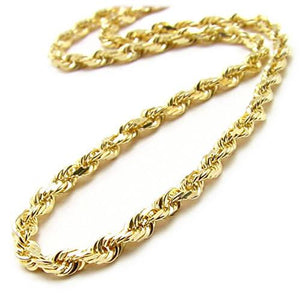 "22"" 2.5MM Rope Chain in 14K Yellow Gold"
