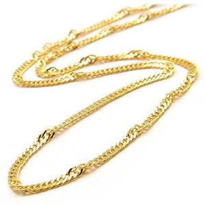 "18"" 1.5mm SINGAPORE CHAIN IN 14K GOLD"