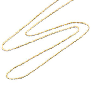 "18"" 1.0MM BALL/BAR CHAIN IN 14K GOLD"