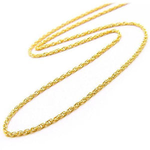 "16"" 0.8MM BABY ROPE CHAIN IN 14K GOLD 