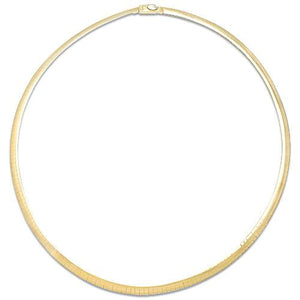 "16"" 4MM Omega Chain in 14K Two-Tone Gold"
