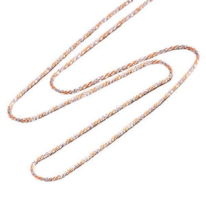 "18"" 1.0MM Sparkle Chain in 14K Two-Tone Gold"