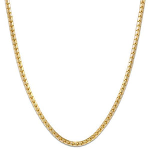 "16"" 1.3MM Ice Cube Chain in 14K Yellow Gold"