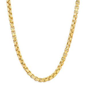 "24"" 2.4MM Round Box Chain in 14K Yellow Gold"