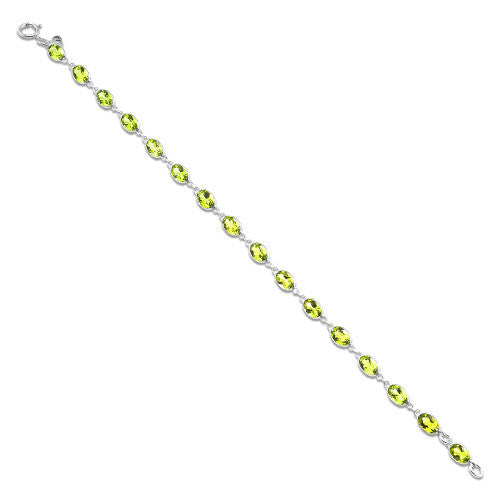 Peridot Bracelet in 14K White Gold