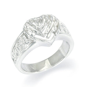 Aloha Heart Ring in Sterling Silver - 12mm
