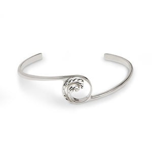 Nalu Double Wave Cuff Bracelet in Sterling Silver