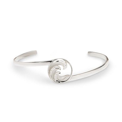 Nalu Cuff Triple Wave Bracelet in Sterling Silver