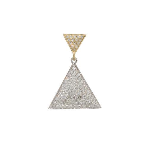 Triangle Diamond Pendant in 14K Two-Tone Gold 047-03261