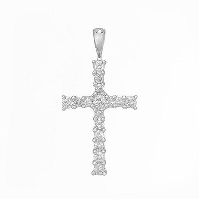 Diamond Cross Pendant in 14K White Gold 047-03631