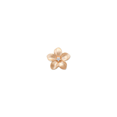 PLUMERIA PENDANT WITH DIAMOND IN 10K ROSE GOLD - 9MM