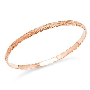 Old English Scroll 4.5mm Bracelet in 14K Rose Gold - Size 7.5