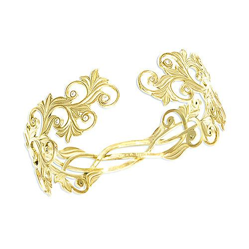 Living Heirloom Bracelet with Diamonds in 14K Yellow Gold - 21mm