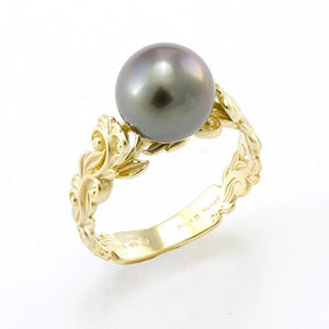 Living Heirloom Ring in 14K Yellow Gold 8-9mm 074-00670