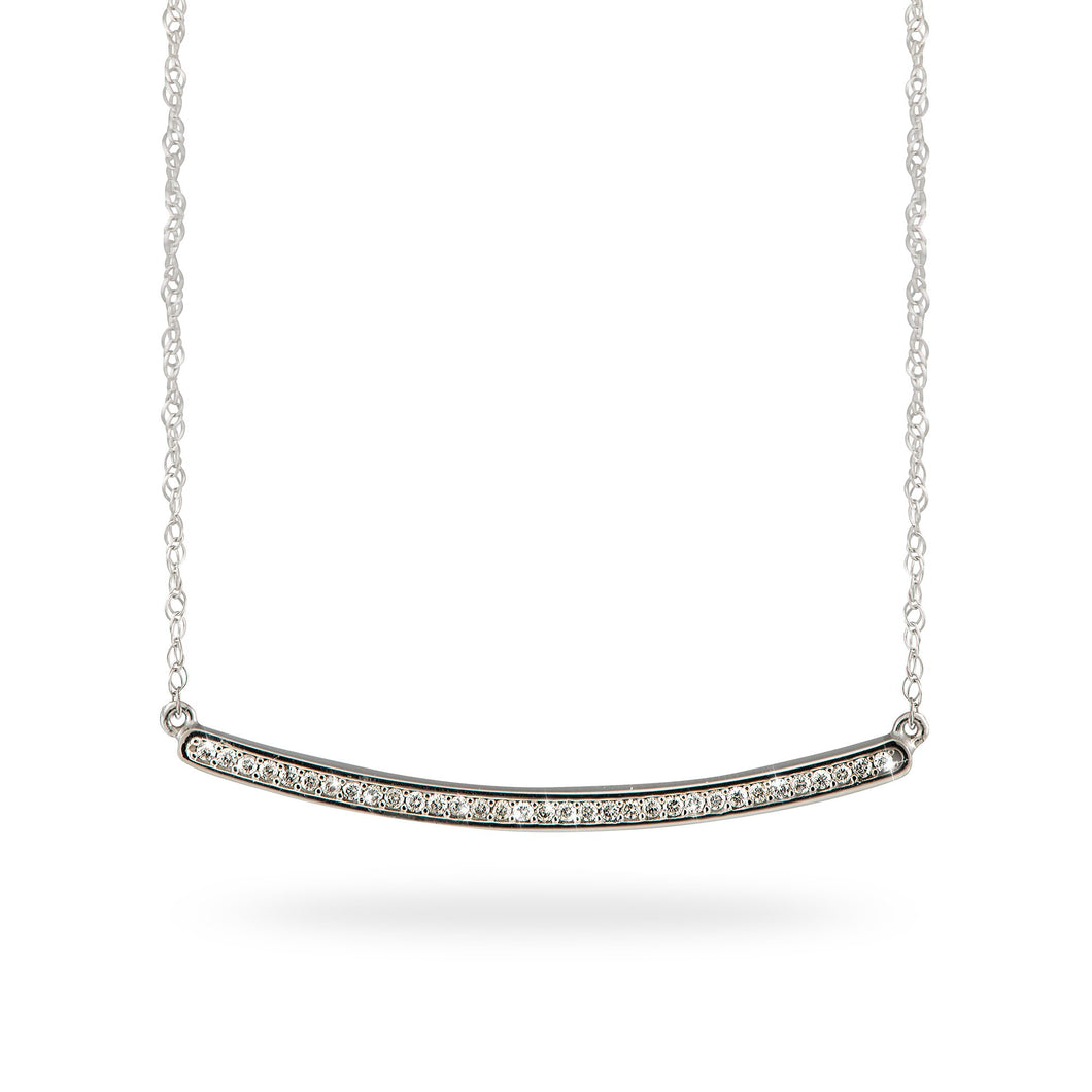 Diamond Necklace in 14K White Gold