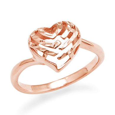 Aloha Heart Ring in 14K Rose Gold - 11mm