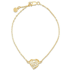 Aloha Heart Bracelet in 14K Yellow Gold (11mm)