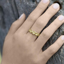 画像をギャラリービューアに読み込む, Hawaiian Heirloom Plumeria 6mm Ring in 14K Yellow Gold