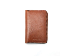 Bi-Fold Wallet - Cognac - Foxtail Goods [handmade leather and waxed canvas goods], [california], [camping gear], [commuting bag], [travel bag]