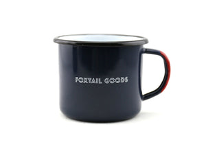 ENAMEL CAMPING MUG - Foxtail Goods [handmade leather and waxed canvas goods], [california], [camping gear], [commuting bag], [travel bag]