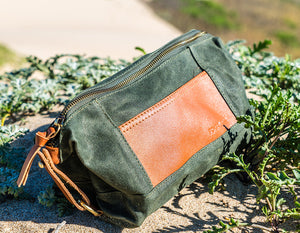 Toiletry Dopp Kit in Olive