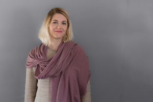 Cashmere Scarf Antique Rose