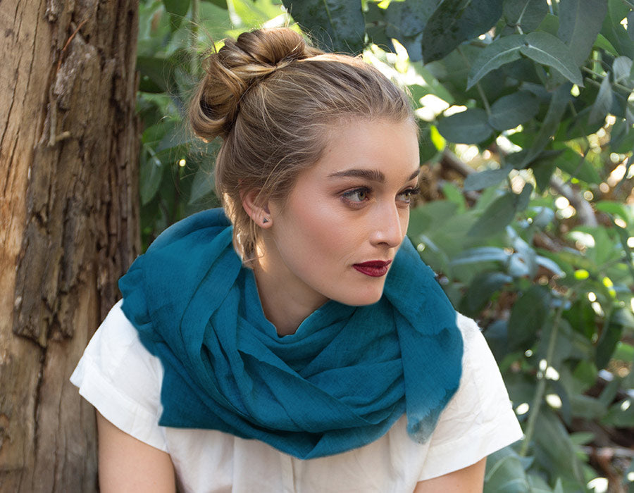 Cashmere Scarf Teal