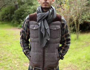 Cashmere Scarf Charcoal Grey - Foxtail Goods [handmade leather and waxed canvas goods], [california], [camping gear], [commuting bag], [travel bag]