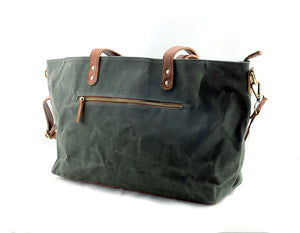 Commuter Zipper Tote in Olive