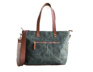 Commuter Zipper Tote in Cement Grey