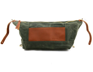 Toiletry Dopp Kit in Olive - Foxtail Goods [handmade leather and waxed canvas goods], [california], [camping gear], [commuting bag], [travel bag]