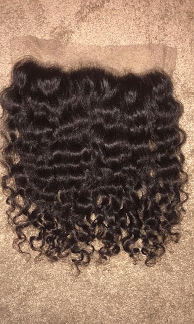 Virgin Natural Curly Frontal (13 x 4)