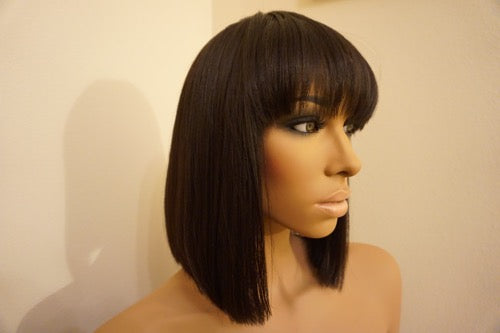 Kinky Straight w/Bangs-SHORT