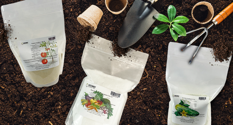 Water soluble and eco-friendly fertilizers in soil