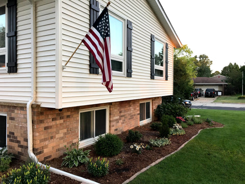 House with american flag