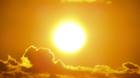 Sun in the orange sky importance of reducing planet carbon footprint