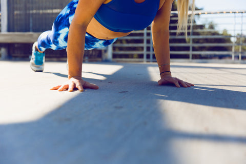 Woman Performing Pushups